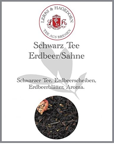 Schwarz Tee Erdbeer/Sahne 1kg