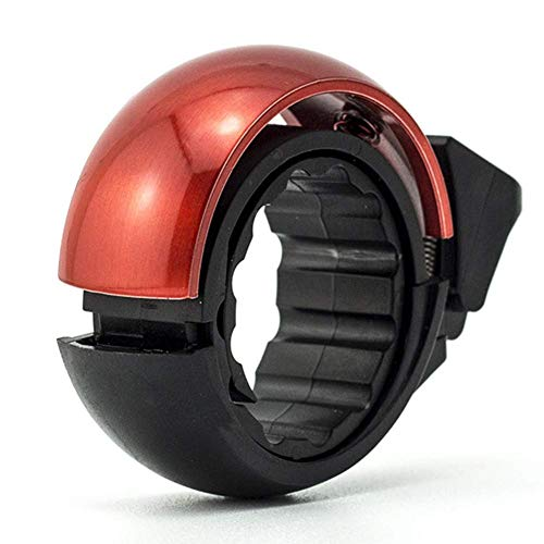 RVTYR Fahrradklingeln, Aluminiumlegierung Interlocking Struktur, Innovativer Fahrrad Alarm Horn for Lenker von 22,2 auf 31,8 Mm, 85-95 DB Decibelsred Fahrrad klingel (Color : Red)