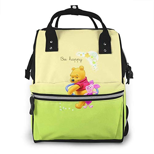 NHJYU Sac /à langer Sac /à dos Winnie The Pooh Multifunction Waterproof Travel Sac /à dos Maternity Baby Nappy Changing Bags