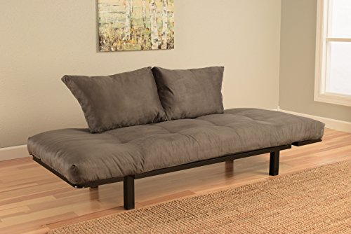 Best Futon Lounger - Mattress ONLY - Sit Lounge Sleep - Small Furniture for College Dorm, Bedroom Studio Apartment Guest Room Covered Patio Porch (Gray)