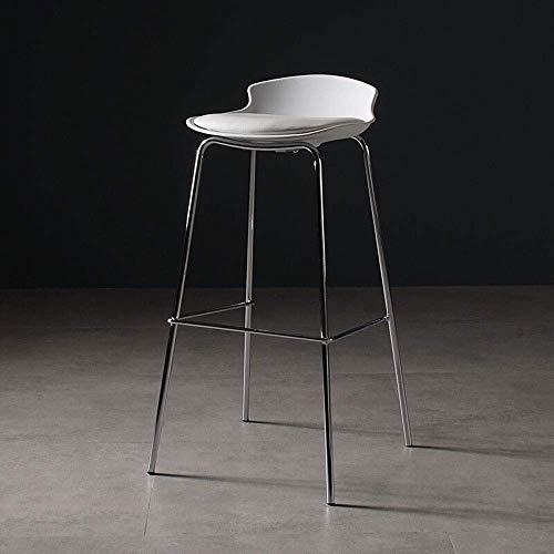 Barkruk in Scandinavische stijl van ijzer, Art Home High Modern dining metaal wire bar ijzer, eenvoudige barkruk, creatief licht, zwart (kleur: blauw)