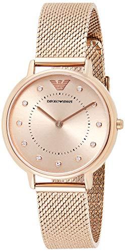 Emporio Armani Damen Analog Quarz Uhr mit Edelstahl Armband AR11129