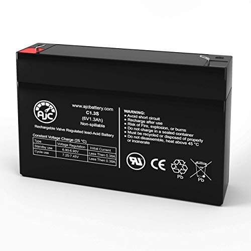 Leoch DJW6-1.2 6V 1.3Ah Sealed Lead Acid Battery - This is an AJC Brand Replacement