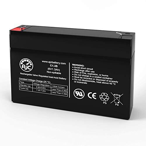 Batterie Fire-Lite 6100 6V 1.3Ah Alarme - Ce Produit est Un Article de Remplacement de la Marque AJC®