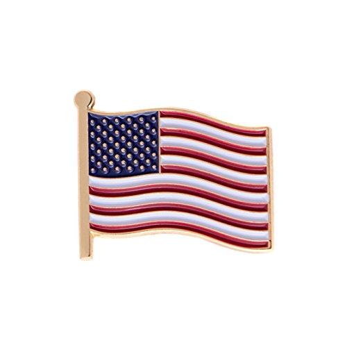 United States of America USA Country Enamel Made of Metal Souvenir Hat Men Women Patriotic American (Waving Flag Lapel Pin)