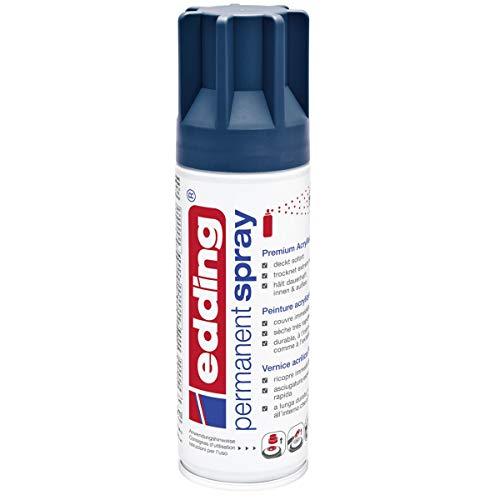 edding 5200 Permanent-Spray - elegant nacht-blau matt - 200 ml - Acryllack zum Lackieren und Dekorieren von Glas, Metall, Holz, Keramik, lackierb. Kunststoff, Leinwand, u. v. m. - Sprühfarbe