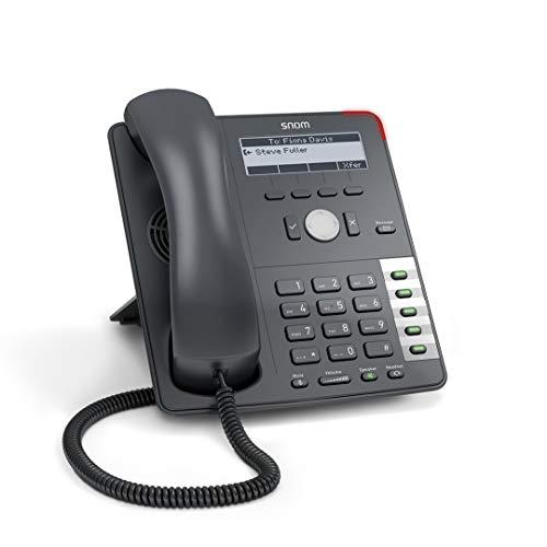 Snom 710 Professionelles VoIP/SIP-Business-Telefon, Display mit Hintergrundbeleuchtung, Ethernet-Switch, Sensor-Hook-Switch, 4 SIP-Identitäten, IPv6; 2793 (Generalüberholt)
