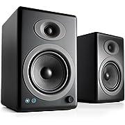 Audioengine A5+ Wireless Bookshelf Speakers. Stream Pandora, Spotify, Tidal or your favorite app with aptX HD in High Resolution
