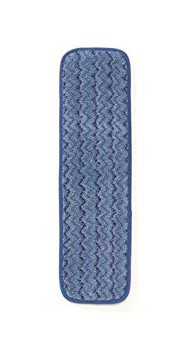 Rubbermaid Commercial (fgq41000bl00) HYGEN microfibra húmedo habitación mopa, 45,7cm, azul (Pack de 12)