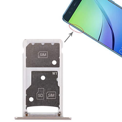 Dmtrab Repuesto 2 Bandeja de Tarjeta SIM/Bandeja de Tarjeta Micro SD for Huawei Enjoy 6 / AL00 (Rosa) Tarjeta De Teléfono (Color : Gold)