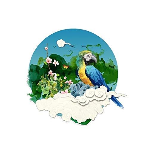 Maksim-003 13.5 * 12.8cm Misterio Parrot Decoración Coche Pegatina PVC Color Pegatina Personalizada Pegatinas Animal