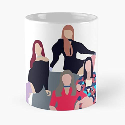 """Kaffeebecher mit Aufschrift """"Ddu Du Classic"""", 325 ml, lustiges Design, tolles Geschenk, weiß-miinviet."""