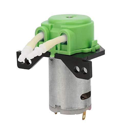 Micro bomba peristáltica, micro bomba peristáltica líquida de agua DC6V con tubo de silicona para laboratorio de acuario analítico 2 * 4 mm(Verde)