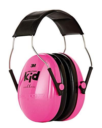 3M Peltor Kid Kapselgehörschutz, Neon-rosa, Leichter Kinder Gehörschutz/Ohrenschutz mit verstellbarem Kopfbügel für Lärm bis 98dB - SNR 27 Hörschutz für Konzerte, Feuerwerk, Schule, Motorsport