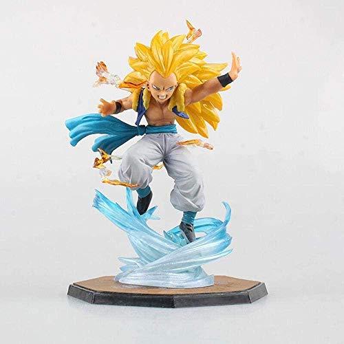 LJXGZY Figura de Anime Dragon Ball Super-Saiyan Gotenks 16CM Estatua Modelo coleccion decoracion Modelo Regalo de cumpleanos Estatua
