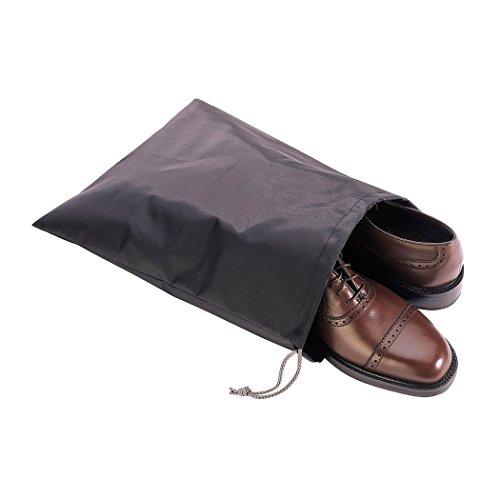 Richards Homewares 6847 Travel Shoe Bag (Set of 3), 12'x15', Black