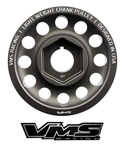 VMS RACING 05-06 Light Weight Billet Aluminum Crankshaft CRANK PULLEY Compatible with Acura RSX Type S DOHC K20Z1 2005-2006 4G63 Engines ONLY OEM SIZE (uses same belts)