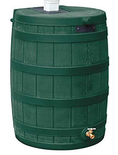 Good Ideas RW40-GRN Rain Wizard Rain Barrel 40-Gallon, Green
