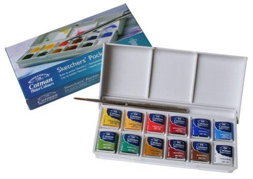 Winsor & Newton Cotman Wasser Farbe Sketchers 'Pocket Box Set von 12, B? roartikel