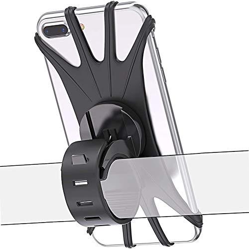 Generic Brands - Soporte para teléfono móvil para bicicleta con rotación de 360 °, ajustable, para todos los smartphones y dispositivos electrónicos de 4,5 a 6,5 pulgadas