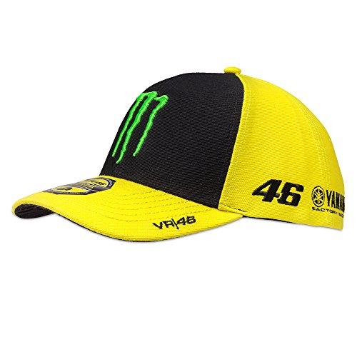 Valentino Rossi VR46 Cap Kappe Sponsor Fanartikel Helm Helmet Verstellbar Gelb + gratis Fanergy Traubenzucker
