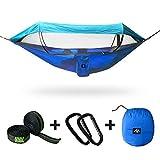 ayamaya Double Hammock with Mosquito Net & Sunshade Cloth & Tree Straps for 1-2...