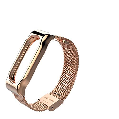 Pulsera de metal para Mi Band 2 sin tornillos de acero inoxidable pulseras reemplazar accesorios,