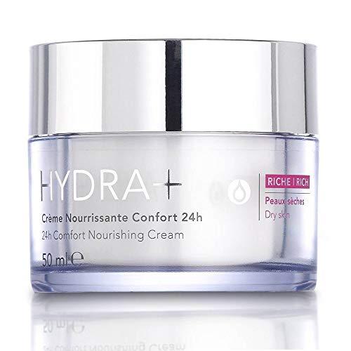 RoC Hydra+ - Crema Idratante Viso Comfort 24h Texture Ricca, 50 ml