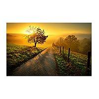美しい夕日の風景ポスタープリントアートワークギフト壁アートポスターキャンバス絵画ホームリビングルームの装飾ギフト寝室の装飾-60x80CMフレームなし