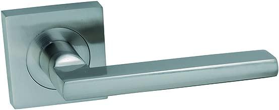 8806BN//BOX Scylla Picaporte para puerta acabado en n/íquel cepillado