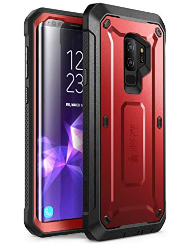 SUPCASE Unicorn Beetle Pro Series Case Designed for Samsung Galaxy S9+ Plus, with Built-in Screen Protector Full-Body Rugged Holster Case for Galaxy S9+ Plus (2018 Release) (MetallicRed)
