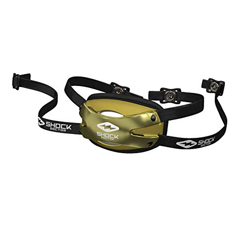 Shock Doctor 509-99-21-30 Ultra Pro Showtime Chin Strap Chrome Gold Adult-L/XL