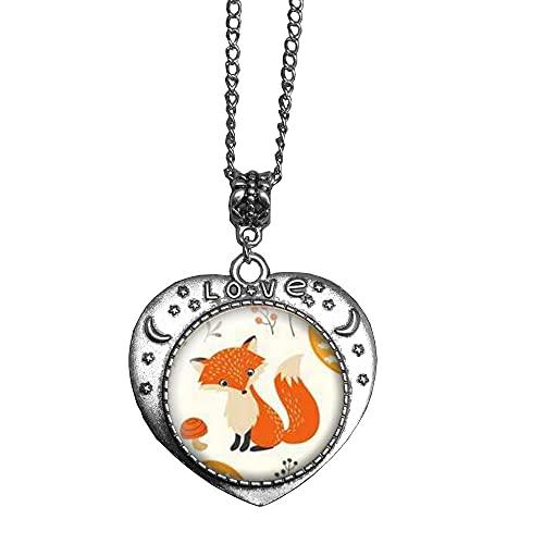 Fox Collar con colgante de animal para mujer, joyería de S, regalo de aniversario de cumpleaños para ella, día de la madre-#144