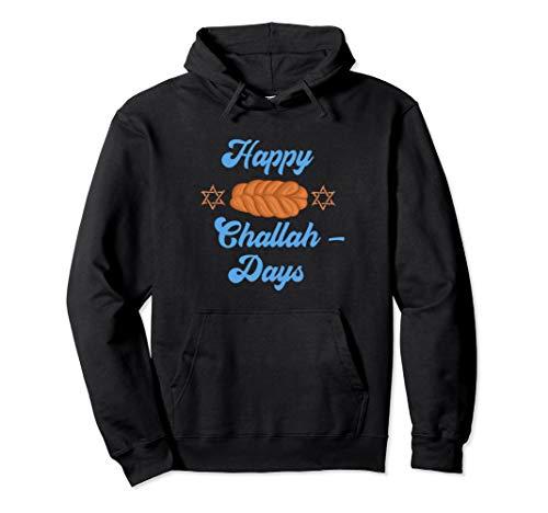 Chanukkah Happy Challah Days Zitat Jüdisches Brot Chanukah Pullover Hoodie