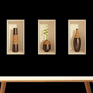 Decorative 3D effect - Bamboo (3 pieces 60x90 cm)