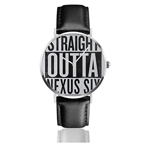 Unisex Business Casual Runner Straight Outta Nexus Sechs Uhren Quarz Lederuhr