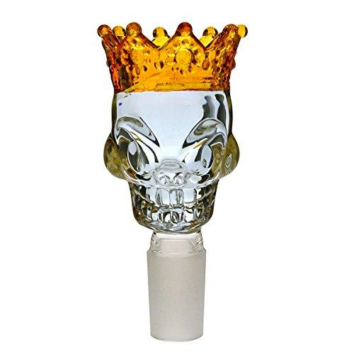 Skull King Bong Köpfchen 18,8 Wasserpfeifen Kopf (Violett / Gold) - head&nature Bong-Kollektion