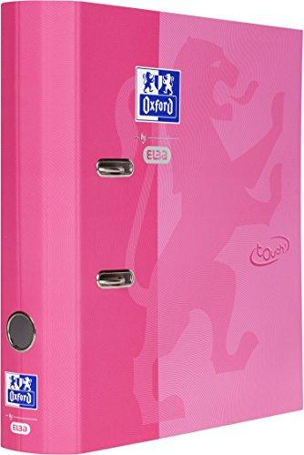 OXFORD by ELBA 400104027 Rund-Ordner DIN A4 in der Farbe Rosa aus Papier mit soft-touch-Oberfläche