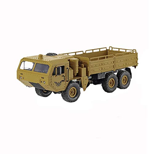 LYY Interesante Coche de Control Remoto, tropa de Camiones Militar 1:16 6WD Vehículo Fuera de la Carretera, Juguete de Camiones Militares Totalmente simulado, for niños (sin batería) Inter