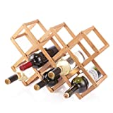 BERELA  BOTBAM Soporte Botellas de Vino Bamb, Organizador de Botellas de...
