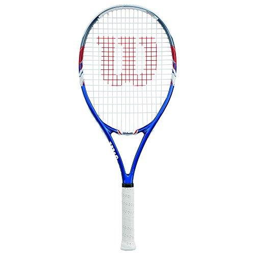 Wilson Damen/Herren-Tennisschläger, Anfänger, US Open Adult, Griffstärke 3, blau/rot/weiß, WRT32560U3