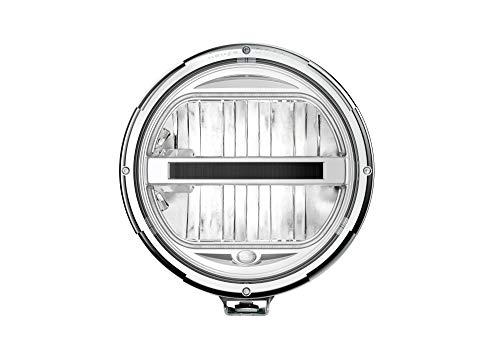 HELLA 1F8 016 797-001 Fernscheinwerfer - Rallye 3003 - LED - 12V/24V - rund - Ref. 25 - glasklare Streuscheibe - transparent - Anbau - Kabel: 800mm