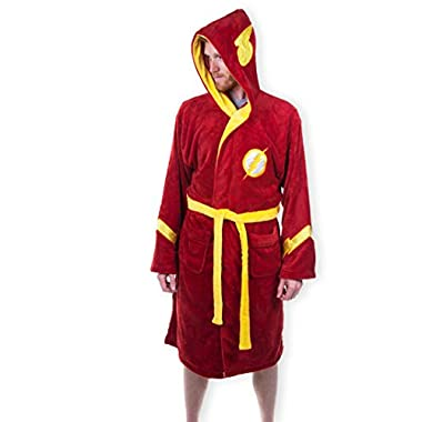 Mens Red DC Comics The Flash Dressing Gown