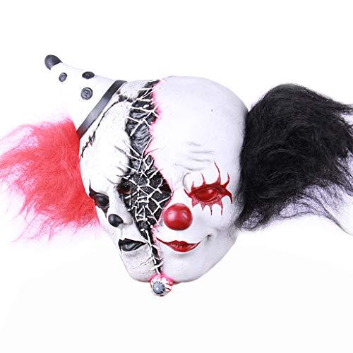 N/A. Mscara de ltex de doble cara espeluznante de payaso zombie, cara completa, disfraz de fiesta de disfraces de cosplay, accesorios de fotografa