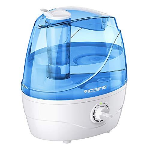 VicTsing Luftbefeuchter, Ultraschall-Luftbefeuchter mit 360°drehbare Dampfdüsen Raumbefeuchter, Effiziente Nebelausgabe, Leise Baby Humidifier für Schlaf-Haus (bis 25m²), 2L,Blau