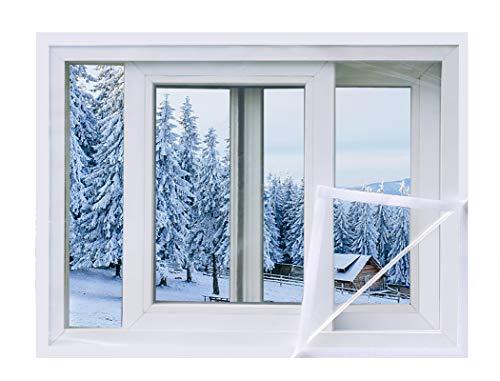 59 x 79 inch window insulation film kit for winter, premium plastic...