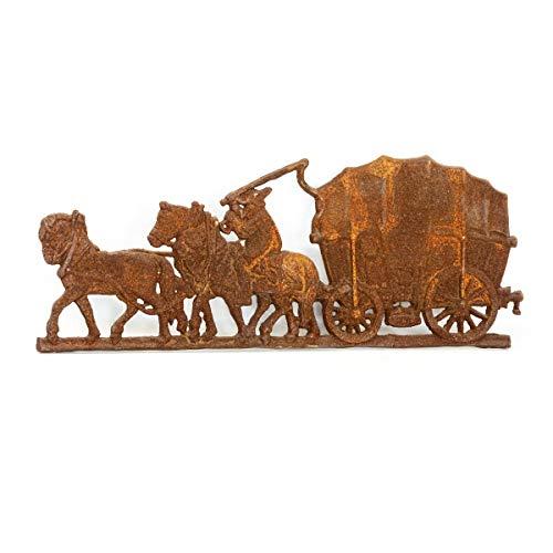 Antikas - Historische Wanddekoration, Kaminplatte, Ofenplatte, Wandrelief - Bauernwagen