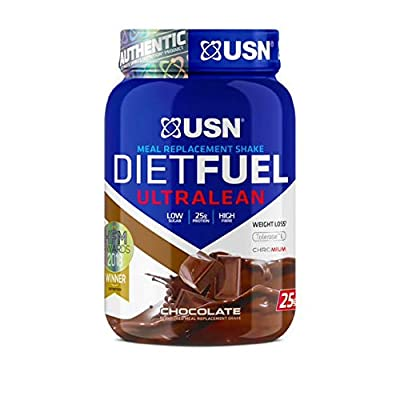USN Diet Fuel Ultralean Weight Control Meal Replacement Shake Powder, Chocolate Cream, 1 kg