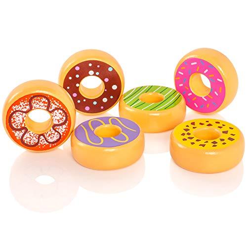 VIGA VIGA-51604 Toys 51604 Donuts Juegos (6 Piezas), Multicolor
