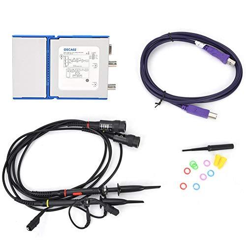 Oscilloscoop, OSCA02 100 m 35 MHz 2-kanaals USB-virtuele oscilloscoop, draagbare meetinstrument voor het onderhoud van autovoertuigen, elektronisch onderzoek, schakeling